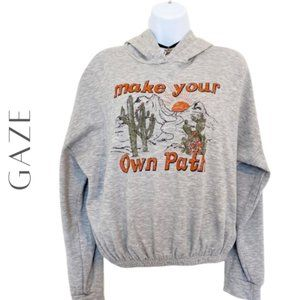 GAZE Make Your Own Path Graphic Hoodie, Large